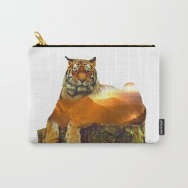 Tiger Double Exposure Carry-All Pouch
