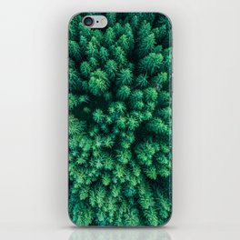 Forest from above iPhone Skin