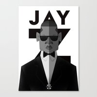 jay z Canvas Prints featuring JAY-Z by olivier silven