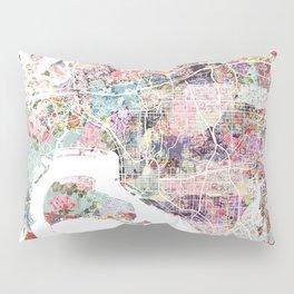San Diego map flowers Pillow Sham
