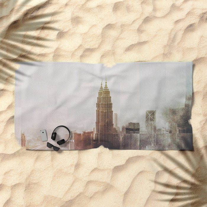 Fractions A43 Beach Towel