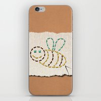 bee iPhone & iPod Skins featuring bee by gazonula