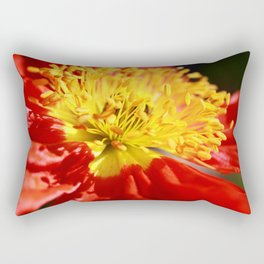 Beautiful Macro Poppy Flower Rectangular Pillow