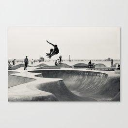 Skateboarding Print Venice Beach Skate Park LA Canvas Print