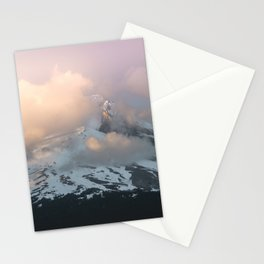 Pink Fog Mountain Morning Stationery Cards