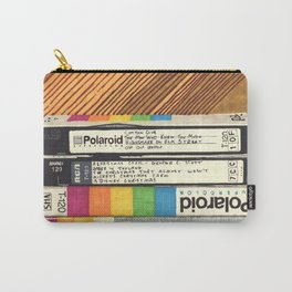VHS & Wooden Wall Carry-All Pouch