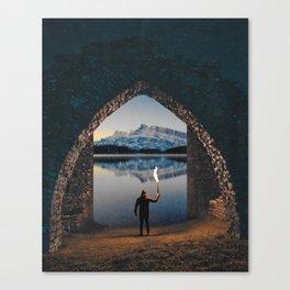 portal to the lake Canvas Print