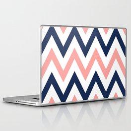 Coral & Navy Chevron Laptop & iPad Skin