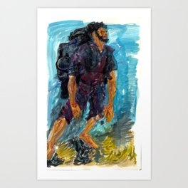 bare foot Art Print