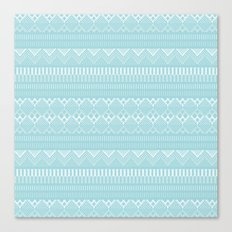 Weave (blue) Canvas Print