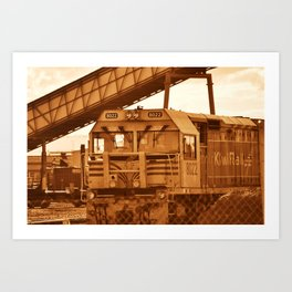 train of thoughts Art Print