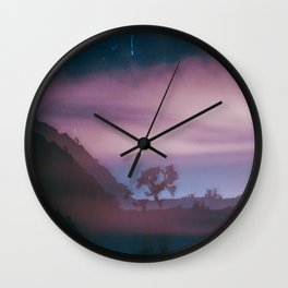 dreamy Joshua Tree at night Wall Clock