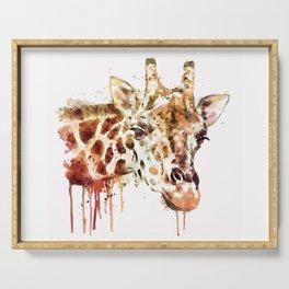 Giraffe Head Serving Tray