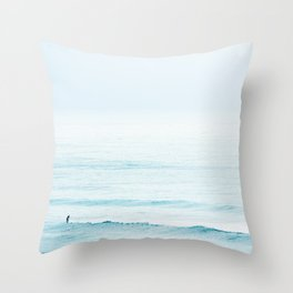 Winter Surfing III Throw Pillow