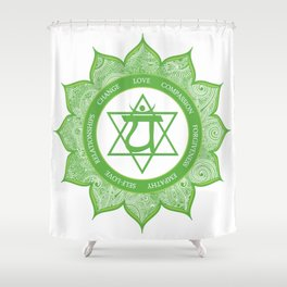 Heart Chakra #49 Shower Curtain