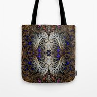 ornate Tote Bags featuring Ornate by RingWaveArt
