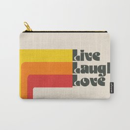 Live Laugh Love 70s Vibes Carry-All Pouch