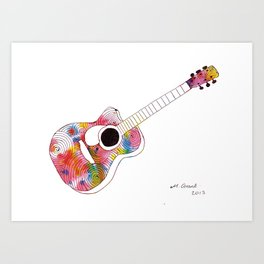 swirls - guitar Art Print