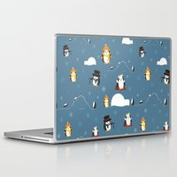 penguins Laptop & iPad Skins featuring Penguins by S. Vaeth