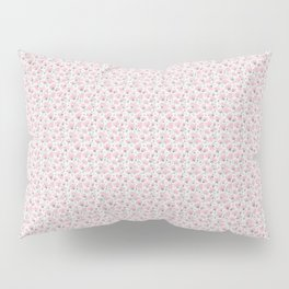 Pink Watercolor Peonies Floral Pattern Small Pillow Sham