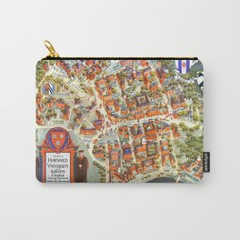 HARVARD University map MASSACHUSETTS Carry-All Pouch