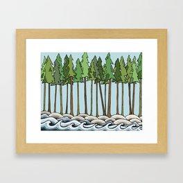 let nature consume you Framed Art Print