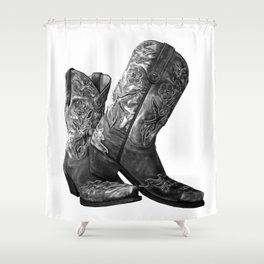 Knockout Cowgirl Boots Shower Curtain