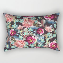 Beautiful victorian rose pattern in vintage style Rectangular Pillow