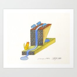 Standpost (Wasserstelle) Art Print