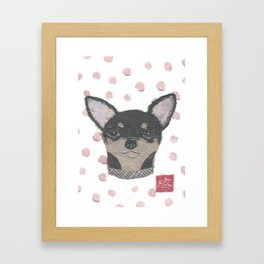 CHIHUAHUA, Dog, Black and Tan Chihuahua Framed Art Print