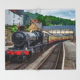 Steam Locomotive Wales Throw Blanket