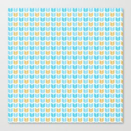 Blue & Gold Tribal Pattern 09 Canvas Print