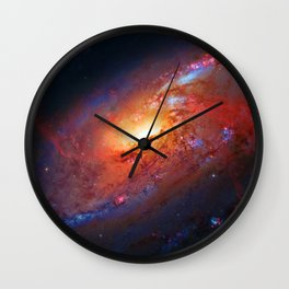 Spiral Galaxy in the Hunting Dogs constellation Wall Clock
