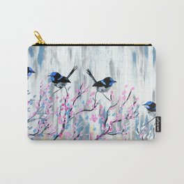 Grey and Blush Carry-All Pouch