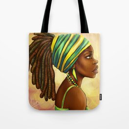 Green Yellow Wrap Tote Bag
