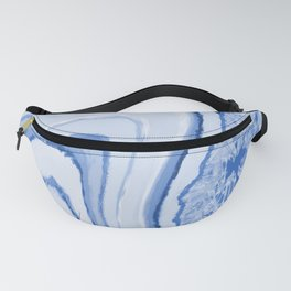 Blue Crystal Watercolor Effect Design Fanny Pack
