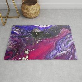 Pipe Down -  Purple Fluid Liquid Painting Pink Grey Swirls Marble Rug