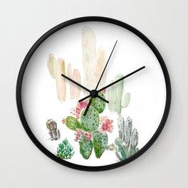Cacti Wall Clock