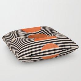 Abstraction_SUNSET_LINE_ART_Minimalism_001 Floor Pillow