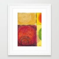 kandinsky Framed Art Prints featuring Colourful pastel work kandinsky inspired by Easyposters