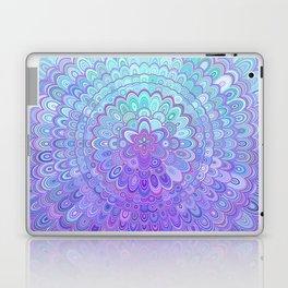 Mandala Flower in Light Blue and Purple Laptop & iPad Skin
