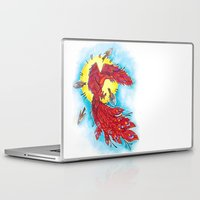 phoenix Laptop & iPad Skins featuring Phoenix by missfortunetattoo