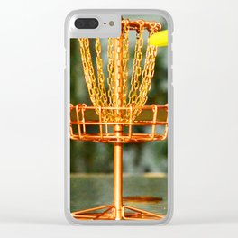 Disc Golf Basket Beer Innova Discraft Vibram Most fun Clear iPhone Case