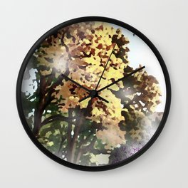 Impression, painted 025 Wall Clock