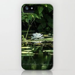 Lone Lily Pad iPhone Case