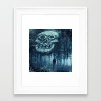 depression Framed Art Prints featuring depression by Dirk Wuestenhagen Imagery