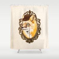 mr fox Shower Curtains featuring Mr Fox by mattdunne