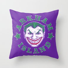 Arkham Island Throw Pillow