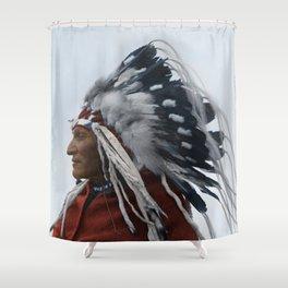 Lazy Boy - Blackfoot Indian Chief Shower Curtain