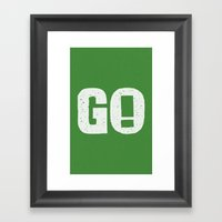 GO! Framed Art Print